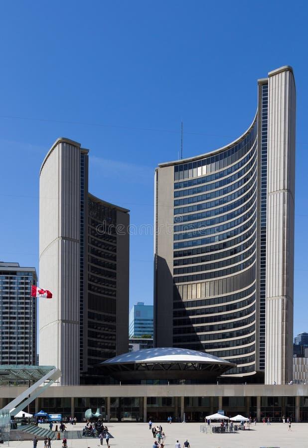 Nuevo ayuntamiento Toronto fotos de archivo