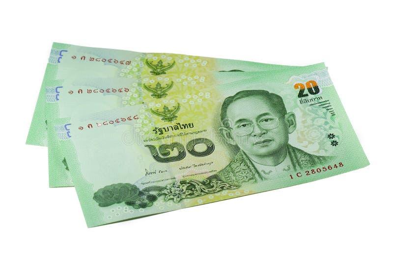 Nuevo 2013 baht tailandés del dinero 20 imágenes de archivo libres de regalías