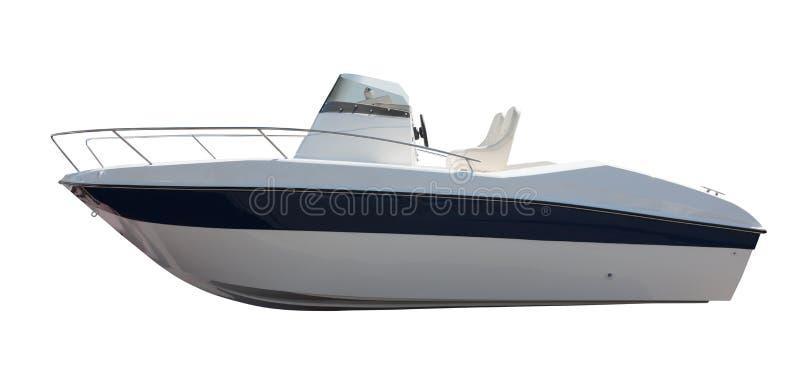 Nuevo barco de motor. Aislado sobre blanco fotos de archivo libres de regalías