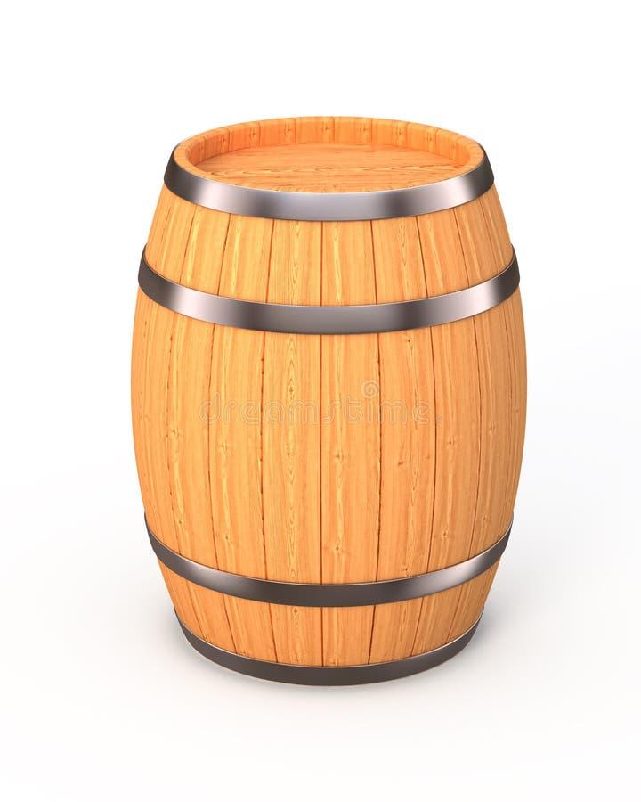 Nuevo barril del roble stock de ilustración