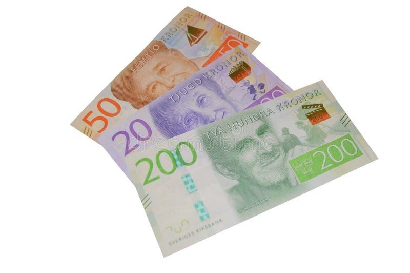 Nuevo billete de banco Suecia de la corona sueca imagen de archivo libre de regalías