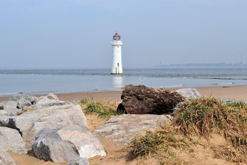 Nuevo Brighton Lighthouse foto de archivo