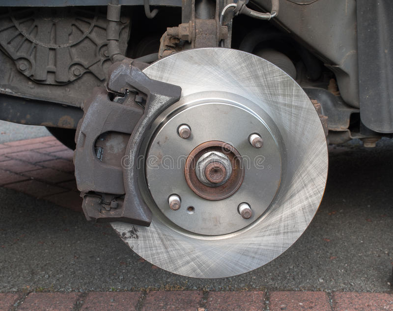 Nuevo calibrador del freno de disco de freno del coche cabido imagen de archivo