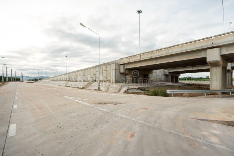 Nuevo camino en Tailandia septentrional foto de archivo