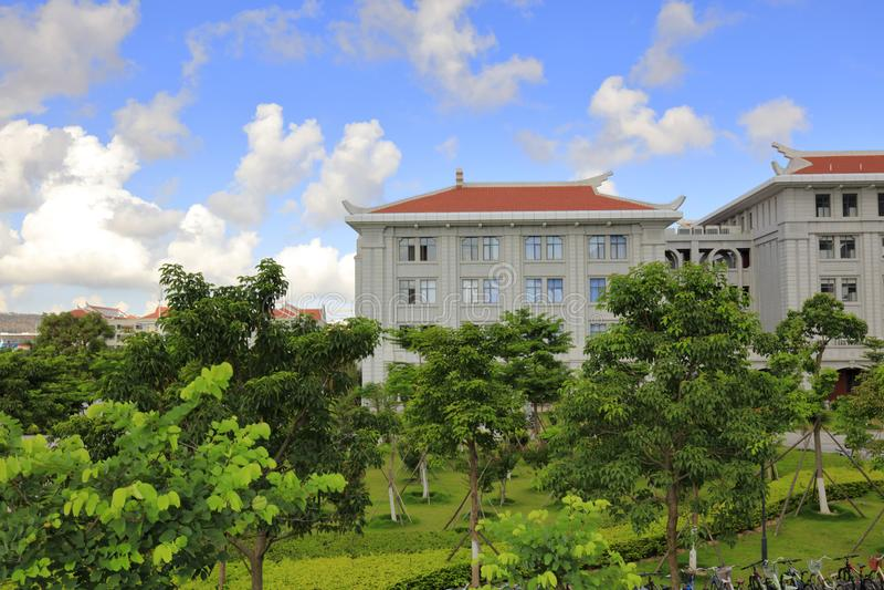 Nuevo campus de la universidad de Xiamen, adobe rgb fotos de archivo libres de regalías