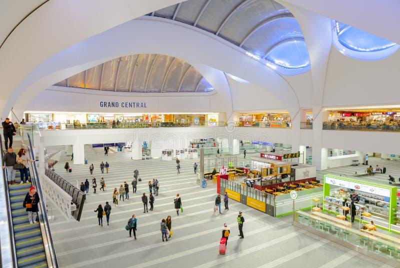 Nuevo centro comercial de la calle/de Grand Central fotografía de archivo libre de regalías