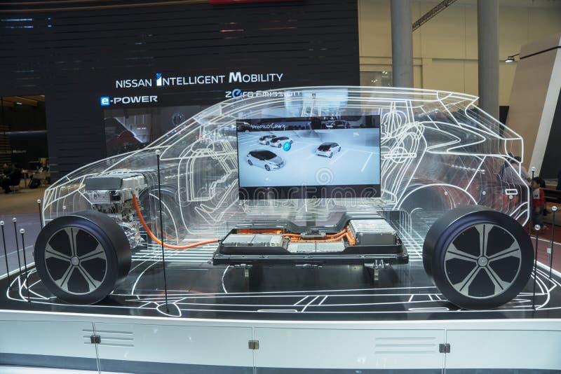 Nuevo coche de Nissan Intelligent Mobility en GIIAS fotografía de archivo