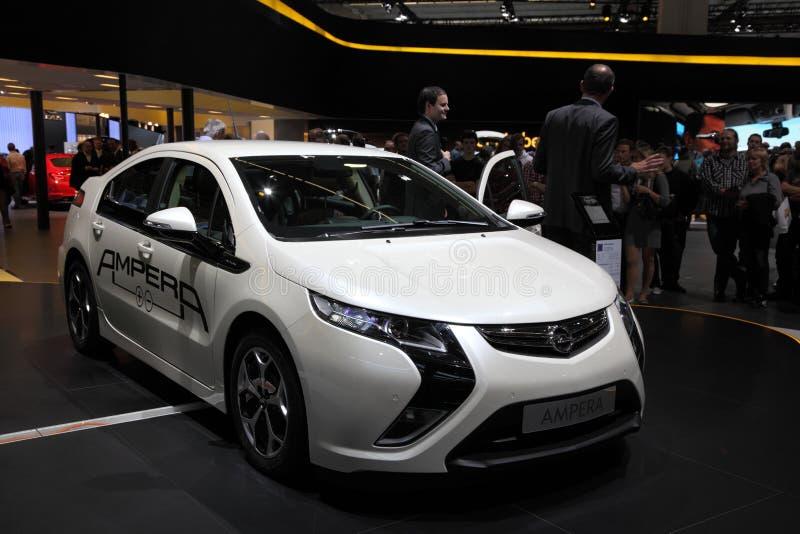 Nuevo coche eléctrico Opel Ampera foto de archivo libre de regalías