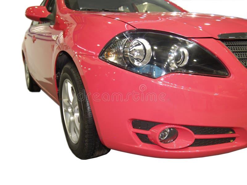 Nuevo coche rojo brillante foto de archivo libre de regalías