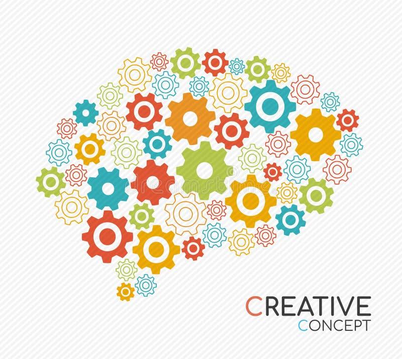 Nuevo concepto creativo de la idea de cerebro humano libre illustration