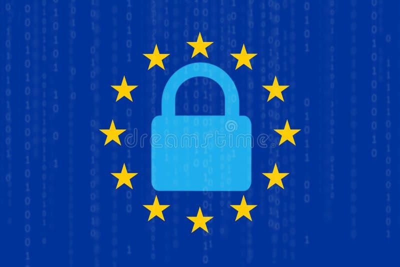 Nuevo concepto de la ley de los datos de Europestock de ilustración