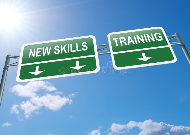 Nuevo concepto de las habilidades. stock de ilustración