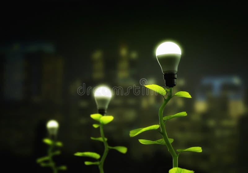 Nuevo concepto renovable y sostenible verde de la energía fotos de archivo libres de regalías
