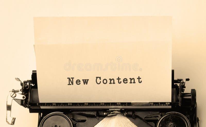 Nuevo contenido fotografía de archivo libre de regalías