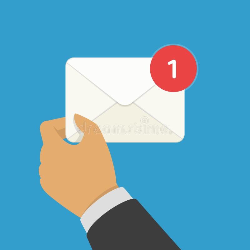 Nuevo correo electrónico entrante ilustración del vector