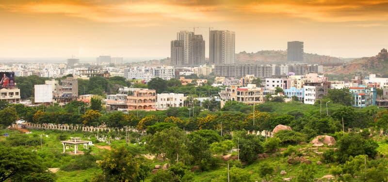 Nuevo crecimiento de Hyderabad en la India imágenes de archivo libres de regalías