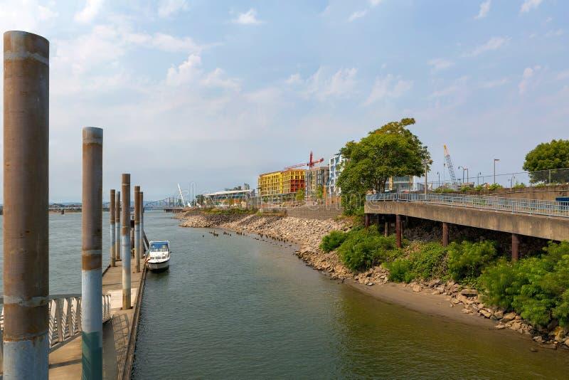 Nuevo desarrollo urbano en Vancouver Washington Waterfront fotos de archivo
