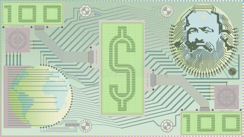 Nuevo dinero; Billete de dólar de Digitaces Serie verde fotos de archivo libres de regalías