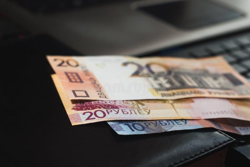 Nuevo dinero en Bielorrusia imágenes de archivo libres de regalías