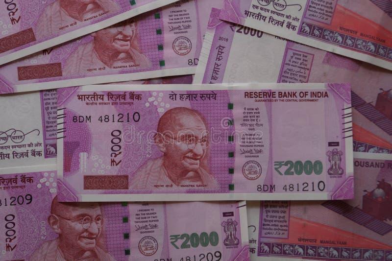 Nuevo dinero indio foto de archivo