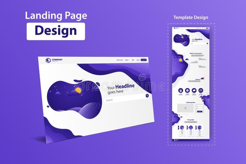 Nuevo diseño de moda de la plantilla del vector del sitio web de la página del aterrizaje libre illustration