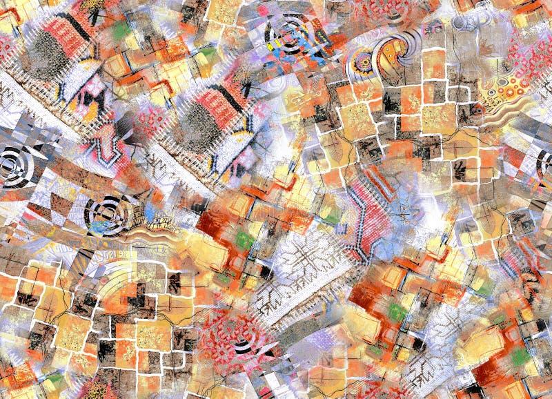 Nuevo diseño multicolor del modelo de Geomatrical libre illustration