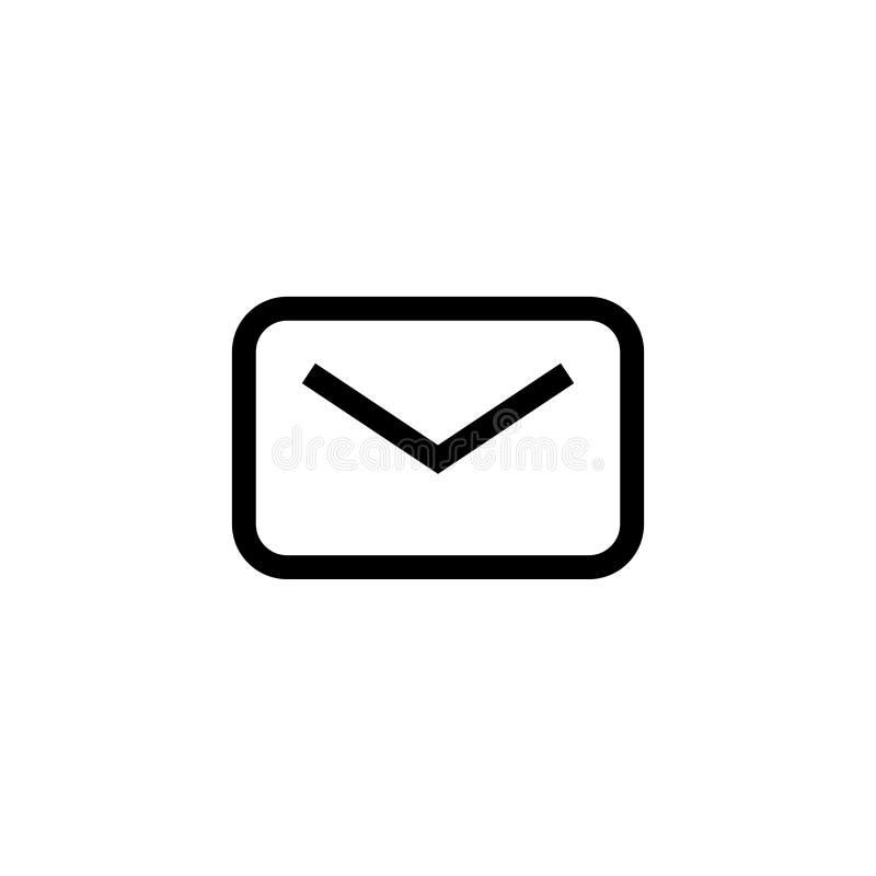 Nuevo diseño Unread del icono del correo electrónico símbolo cerrado del sobre del correo línea limpia simple concepto profesiona libre illustration
