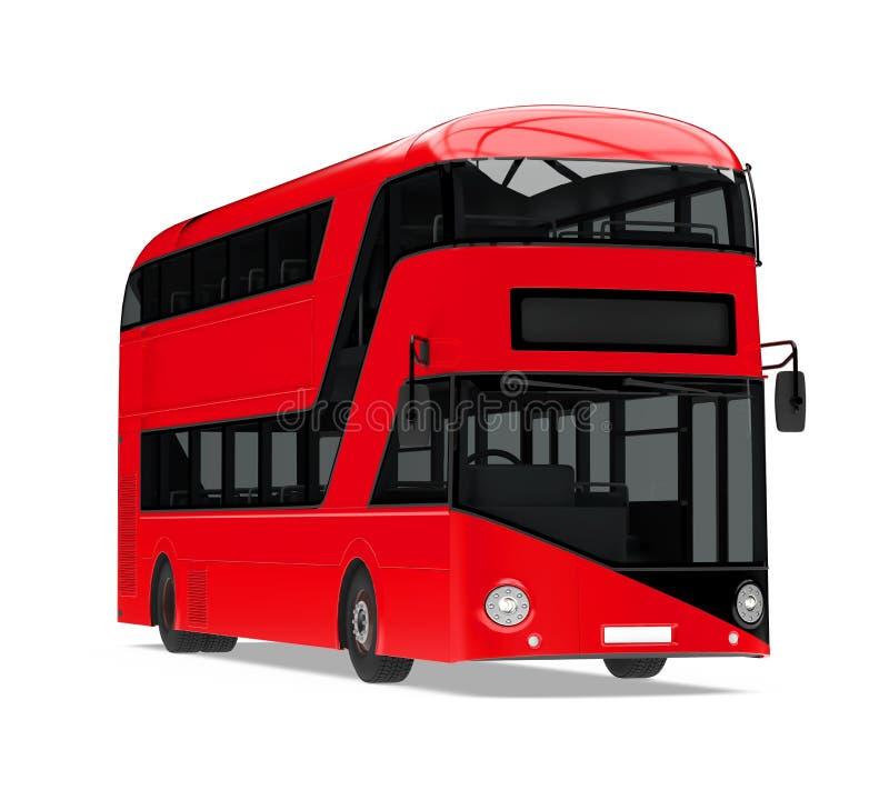 Nuevo doble Decker Bus Isolated de Londres stock de ilustración