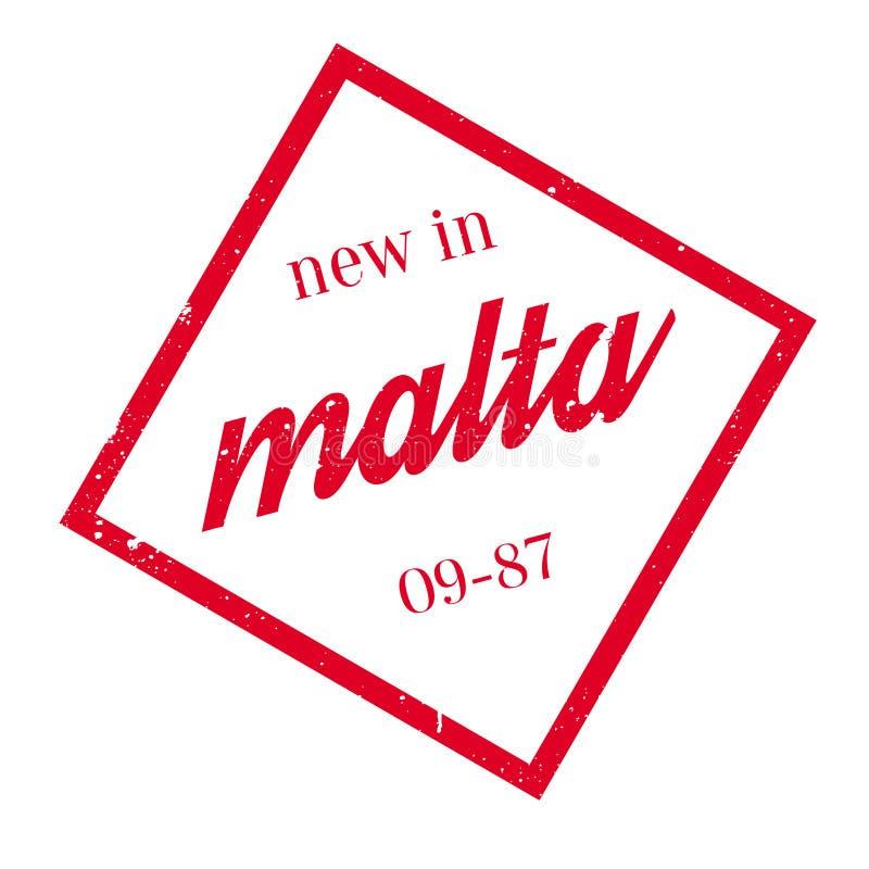 Nuevo en el sello de goma de Malta ilustración del vector