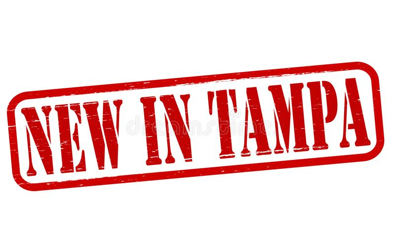 Nuevo en Tampa stock de ilustración