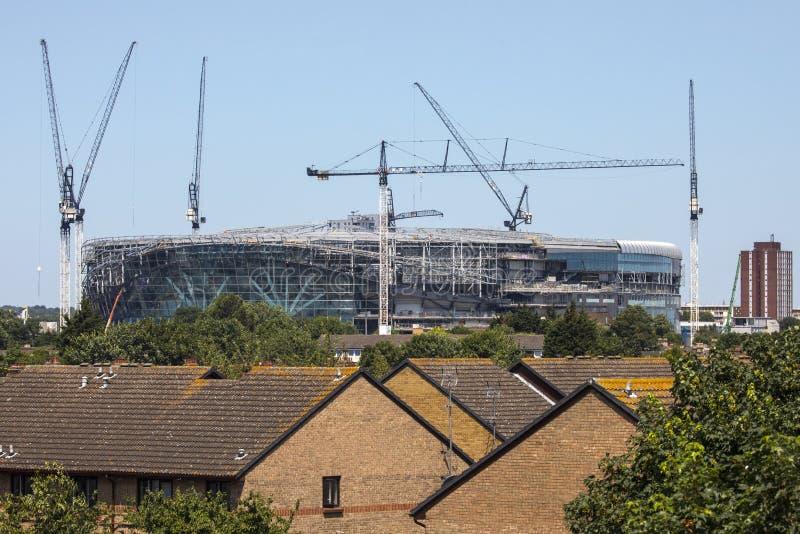 Nuevo estadio de Tottenham Hotspur bajo construcción foto de archivo
