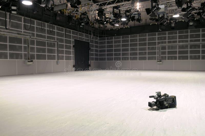 Nuevo estudio de la TV. foto de archivo libre de regalías
