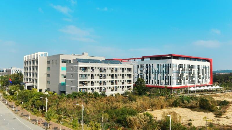 Nuevo exterior corporativo moderno del edificio de oficinas imagen de archivo