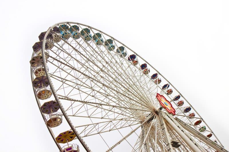 Nuevo Ferris Wheel en Wien en el fondo blanco imagen de archivo