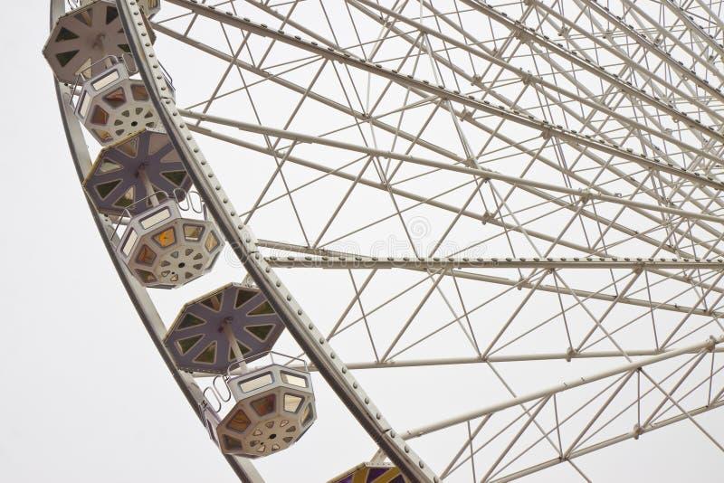 Nuevo Ferris Wheel en Wien en el fondo blanco foto de archivo libre de regalías