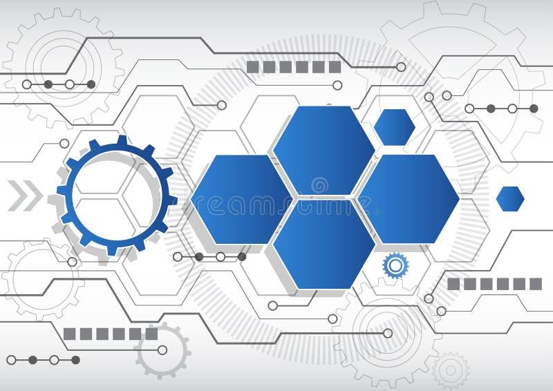 Nuevo fondo abstracto del negocio de la tecnología, ejemplo del vector stock de ilustración