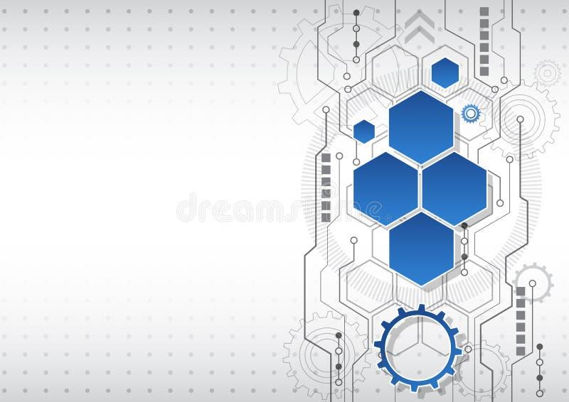Nuevo fondo abstracto del negocio de la tecnología, ejemplo del vector ilustración del vector