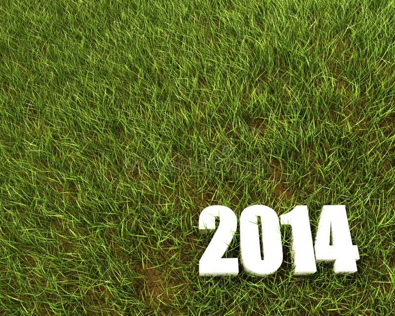 Nuevo fondo de 2014 años ilustración del vector