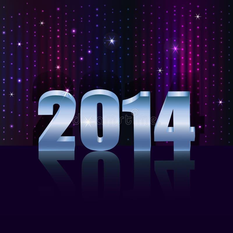 Nuevo fondo de 2014 años stock de ilustración
