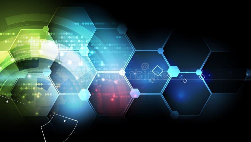 Nuevo fondo futuro del extracto del concepto de la tecnología ilustración del vector