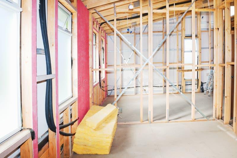 Interior del hogar de la construcción imágenes de archivo libres de regalías