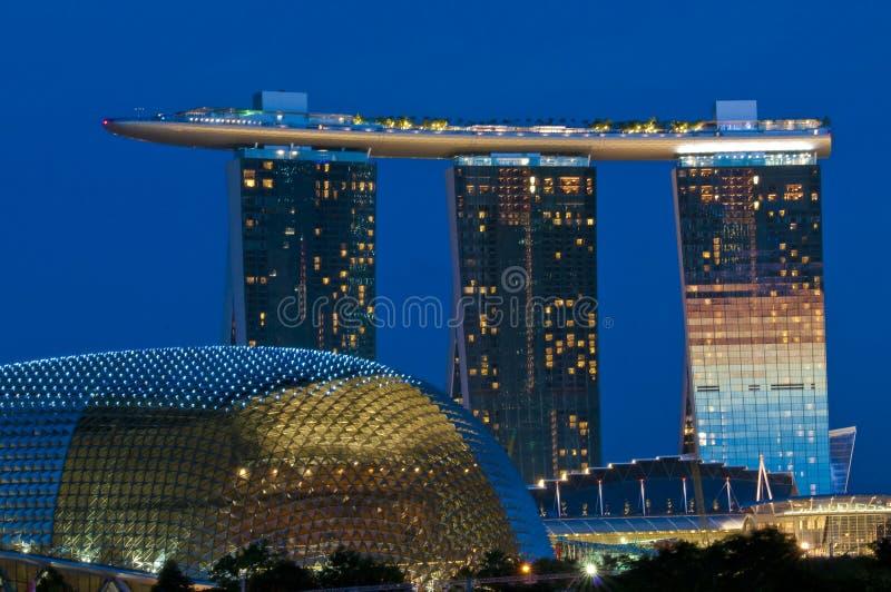 Nuevo horizonte de Singapur foto de archivo libre de regalías