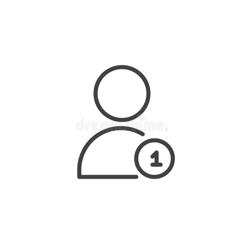 Nuevo icono del esquema de la notificación de la petición del amigo libre illustration