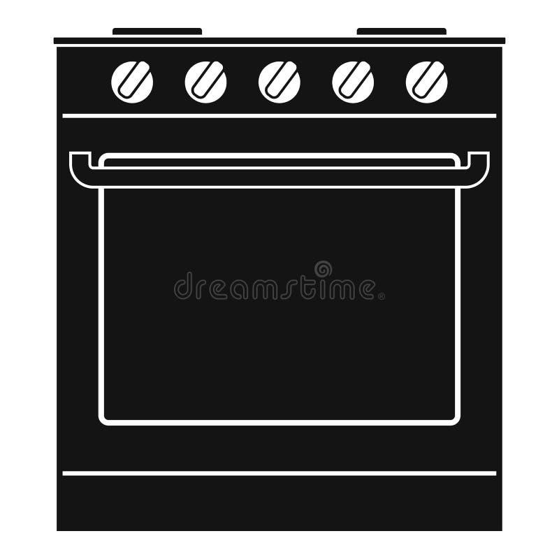 Nuevo icono del horno, estilo simple libre illustration