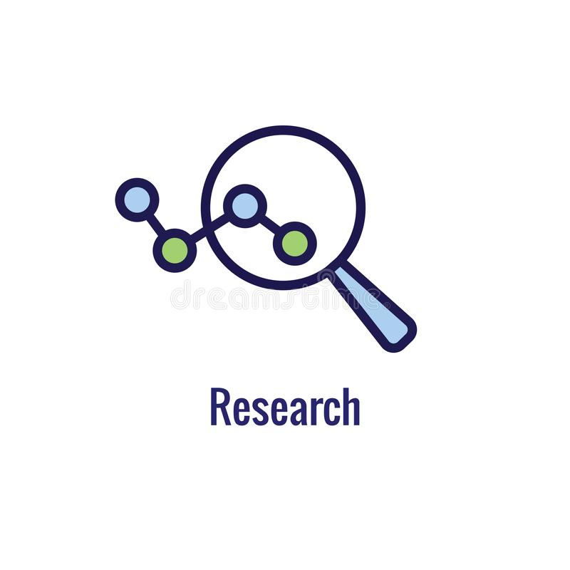 Nuevo icono del proceso de negocio | Fase de investigación libre illustration