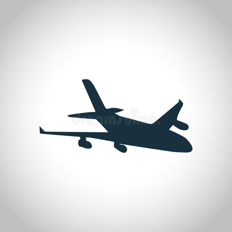 Nuevo icono negro plano ilustración del vector