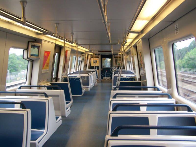 Nuevo interior del tren de Atlanta Marta imagen de archivo