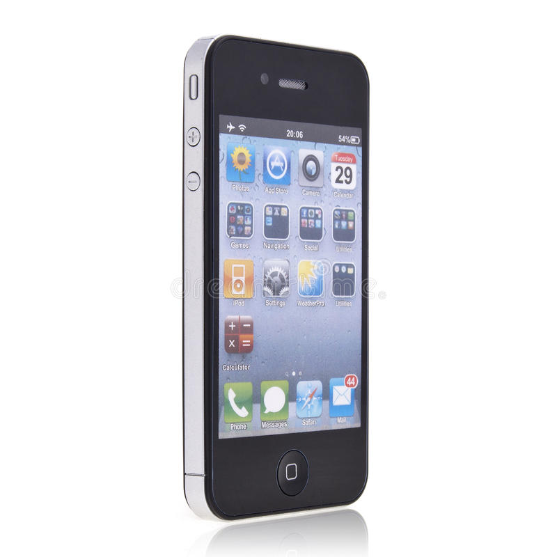 Nuevo iPhone 4 de Apple imágenes de archivo libres de regalías
