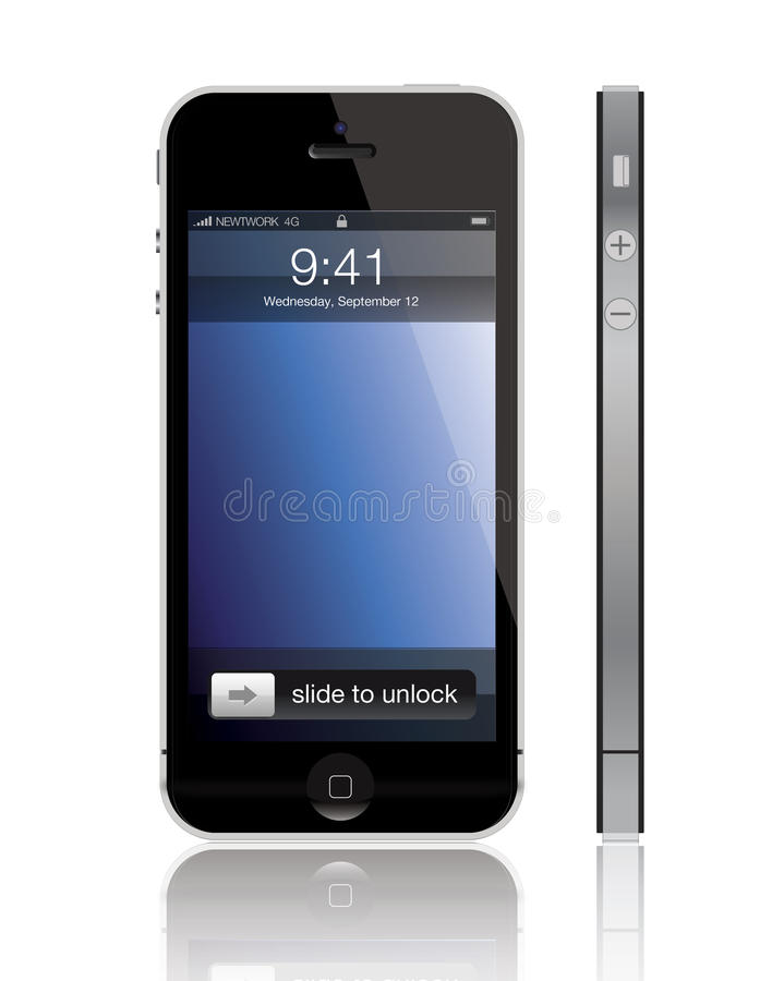 Nuevo iPhone 5 de Apple libre illustration