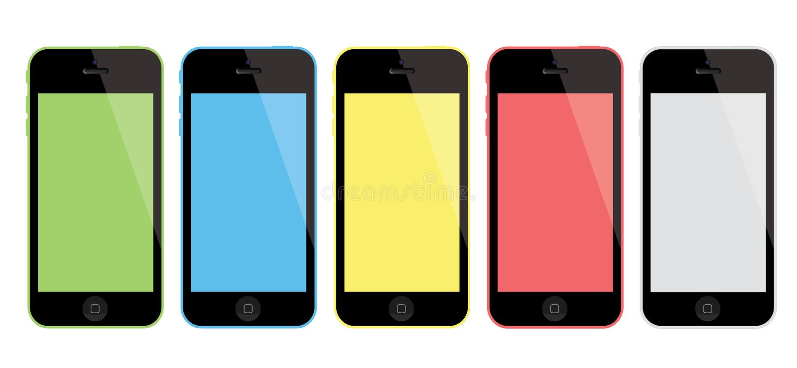 Nuevo iPhone 5C de Apple ilustración del vector